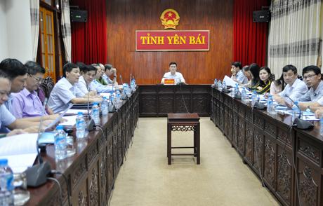 Các đại biểu tham dự Hội nghị tại điểm cầu Yên Bái