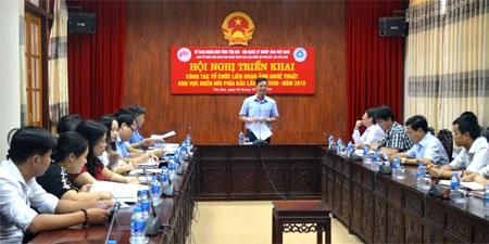 Đồng chí Dương Văn Tiến – Phó Chủ tịch UBND tỉnh chủ trì Hội nghị.