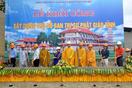 Lễ khởi công xây dựng trụ sở Ban trị sự Giáo hội Phật giáo Việt Nam tỉnh.