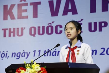 Nguyễn Thị Bạch Dương (lớp 9A, trường THCS Nguyễn Trãi, Nam Sách, Hải Dương).