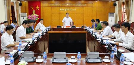 Dồng chí Dương Văn Thống – Phó Bí thư Thường trực Tỉnh ủy phát biểu chỉ đạo Hội nghị.