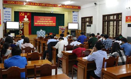 Các đại biểu tham gia Hội nghị tại điểm cầu Yên Bái