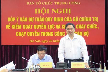 Đồng chí Phạm Minh Chính phát biểu tại Hội nghị.