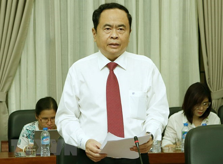 Chủ tịch Ủy ban MTTQ Việt Nam Trần Thanh Mẫn.