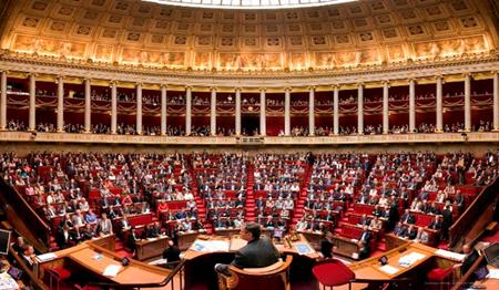 Một phiên họp của Hạ viện Pháp.