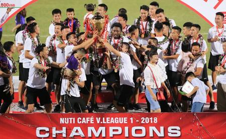 CLB Hà Nội vô địch V-League 2018.