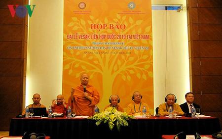 Họp báo Đại lễ Vesak Liên Hợp Quốc 2019 tại Việt Nam.