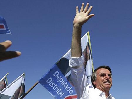 Ứng cử viên Tổng thống Brazil Jair Bolsonaro.