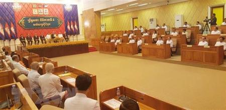 Phiên họp đầu tiên của Thượng viện Campuchia khóa IV ngày 23-4.