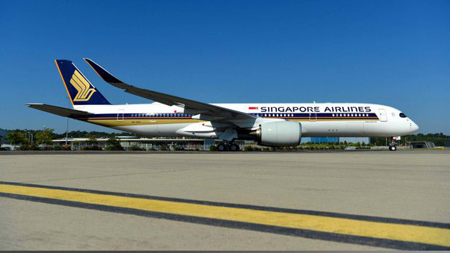 Máy bay Airbus A350-900 ULR của Singapore Airlines.