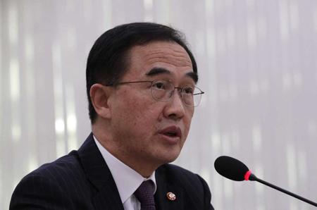 Bộ trưởng Thống nhất Hàn Quốc Cho Myoung-gyo.