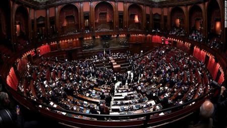 Một phiên họp của Quốc hội Italy.