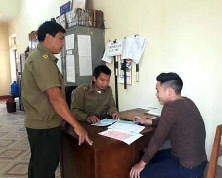 Lực lượng công an xã là nòng cốt giải quyết các vụ việc từ cơ sở, bảo đảm an ninh trật tự tại địa phương.