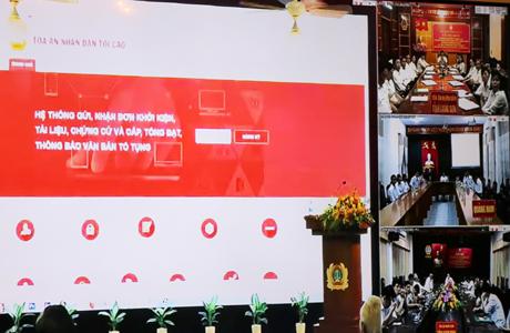 Giao diện mới của Cổng thông tin điện tử TAND Tối cao.