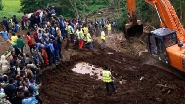 Hiện trường vụ lở đất.