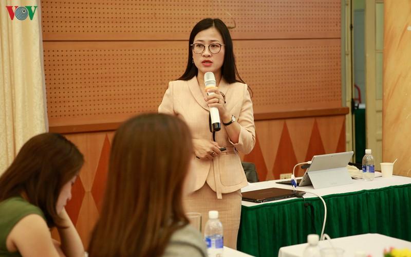 Phó Vụ trưởng Vụ Pháp chế (Bộ Y tế) Trần Thị Trang tại Hội nghị triển khai Luật Phòng, chống tác hại của rượu, bia diễn ra ngày 16/10.