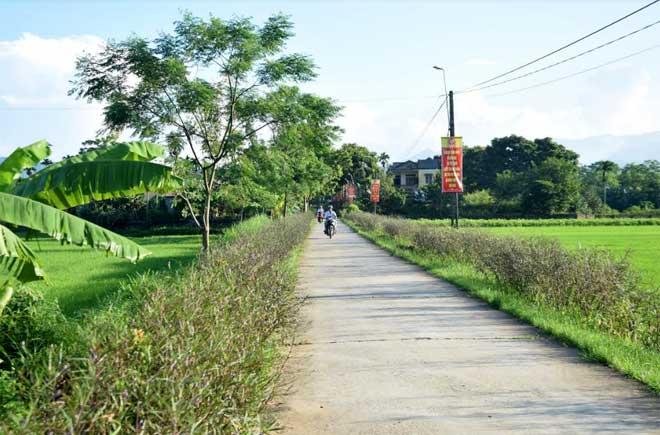 Cảnh quan sáng, xanh, sạch, đẹp làm đổi thay diện mạo xã Việt Thành.