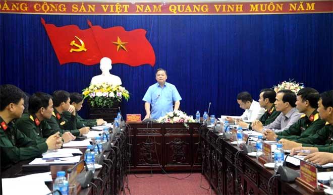 Đồng chí Dương Văn Thống, Phó Bí thư Thường trực Tỉnh ủy, Trưởng đoàn Đại biểu Quốc hội tỉnh Yên Bái, Trưởng đoàn kiểm tra phát biểu tại Hội nghị