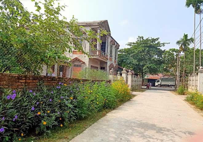 Một khu dân cư xã nông thôn mới Hòa Cuông hôm nay.