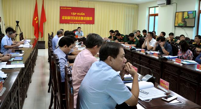 Các đại biểu tham dự tập huấn tại điểm cầu Yên Bái.