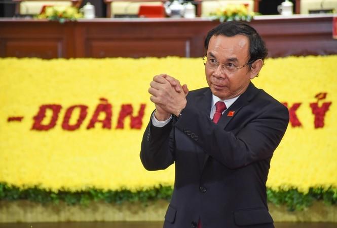 Ông Nguyễn Văn Nên trúng cử chức Bí thư Thành ủy TPHCM khóa XI với tỷ lệ phiếu bầu tuyệt đối 100% (62/62 phiếu).