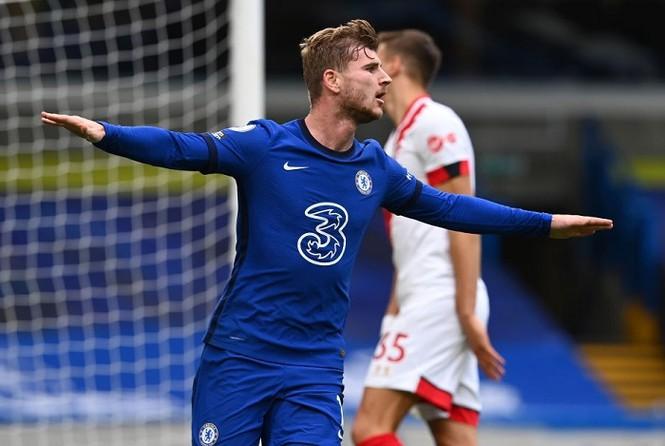 Werner tỏa sáng với cú đúp nhưng Chelsea chỉ giành được 1 điểm