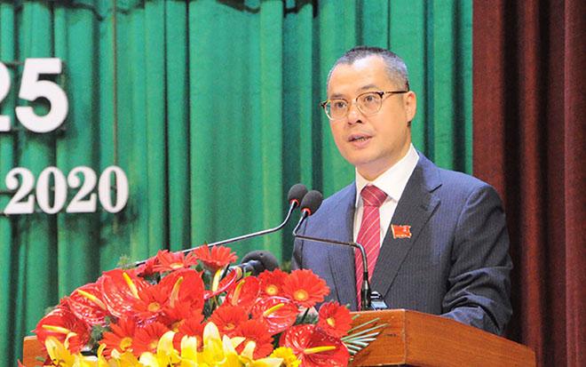 Đồng chí Phạm Đại Dương phát biểu tại Đại hội