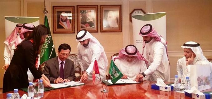 Toàn cảnh Lễ ký kết (Ảnh: Đại sứ quán Việt Nam tại Saudi Arabia)