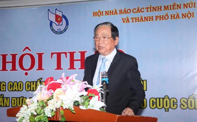 Tiến Sĩ Mai Đức Lộc – Phó Chủ tịch Hội Nhà báo Việt Nam phát biểu chỉ đạo Hội thảo.