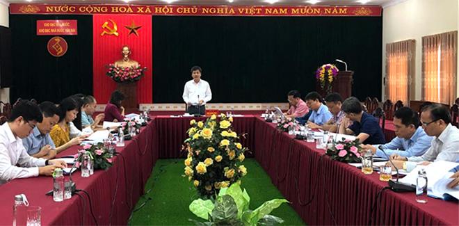 Đồng chí Ngô Hạnh Phúc – Phó Chủ tịch UBND tỉnh phát biểu tại điểm cầu tỉnh Yên Bái.