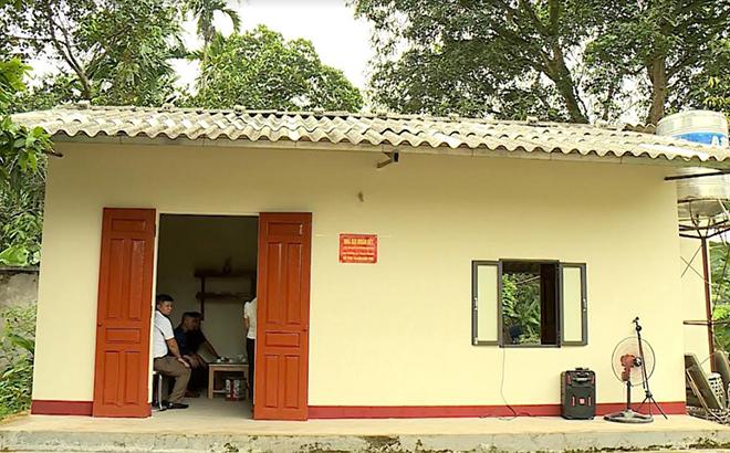 Ngôi nhà của gia đình ông Đào Văn Năm ở thôn Hợp Thành, xã Tuy Lộc, thành phố Yên Bái vừa được xây dựng.