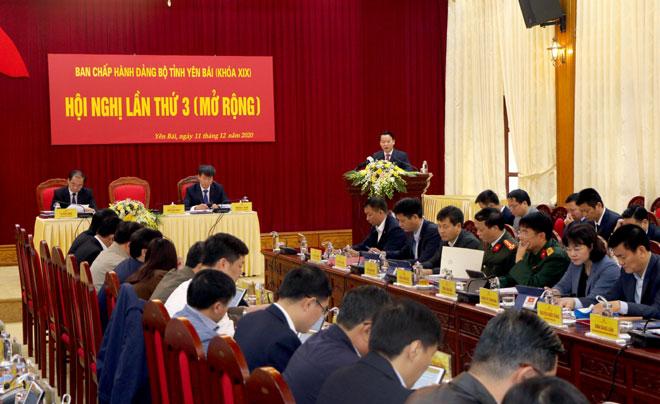 Toàn cảnh Hội nghị lần thứ 3, Ban Chấp hành Đảng bộ tỉnh khóa XIX