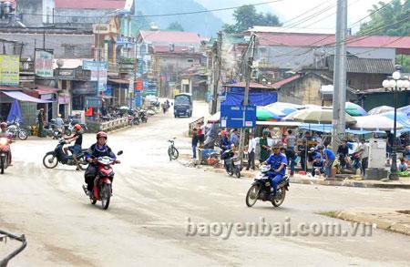 Một điểm đấu nối tại trung tâm huyện Mù Cang Chải.