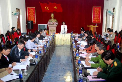 Đồng chí Phạm Thị Thanh Trà - Phó Bí thư Tỉnh ủy phát biểu kết luận buổi làm việc.