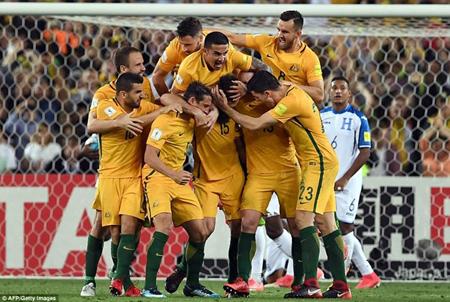 Australia giành vé dự World Cup 2018.
