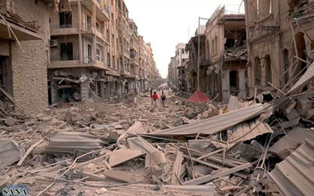 Nội chiến kéo dài đã khiến Syria trở nên tan hoang.
