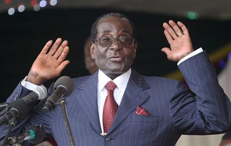 Tổng thống Zimbabwe Mugabe.