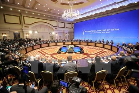 Toàn cảnh một vòng đàm phán tại thủ đô Astana của Kazakhstan về tìm lối thoát cho cuộc xung đột ở Syria, ngày 15/9.