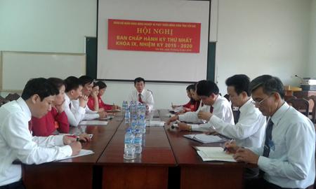 Đồng chí Nguyễn Mạnh Hồng - Bí thư Đảng bộ, Giám đốc Agribank Yên Bái chủ trì Hội nghị Ban Chấp hành Đảng bộ.