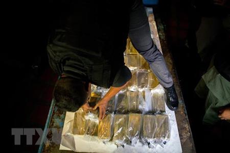 Vàng được vận chuyển tới Ngân hàng Trung ương ở Caracas, Venezuela, ngày 22/3/2018.