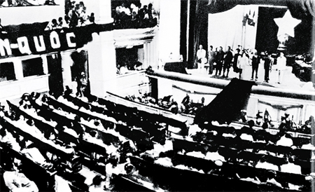 Ngày 09/11/1946, tại Kỳ họp thứ 2, Quốc hội khóa I đã thông qua bản Hiến pháp đầu tiên trong lịch sử Việt Nam.