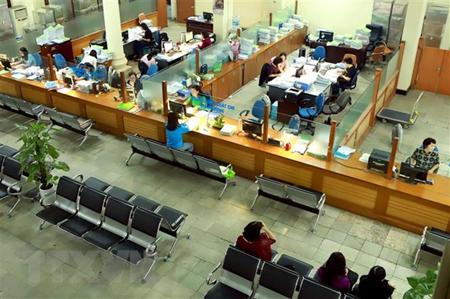 Hoạt động giao dịch thanh toán tại Kho bạc Nhà nước Hà Nội.
