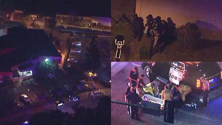 Hiện trường vụ xả súng vào quán bar tại California ngày 7/11.