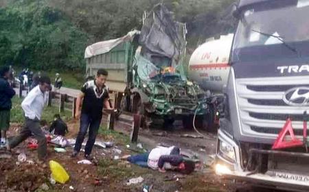 Vụ tai nạn khiến 2 người bị thương.