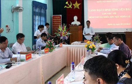 Đồng chí Dương Văn Tiến - Phó Chủ tịch UBND tỉnh kết luạn buổi làm việc.