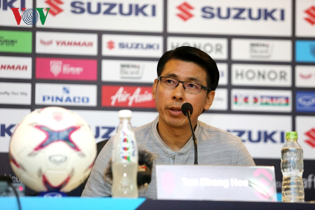 HLV Tan Cheng Hoe khẳng định rằng ĐT Malaysia sẽ hài lòng nếu có 1 điểm trước ĐT Việt Nam.