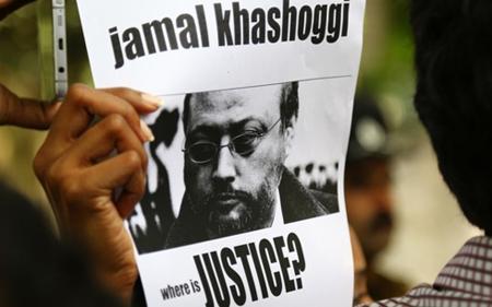Hình ảnh đen trắng của nhà báo Khashoggi, người đã biến mất bí ẩn vào ngày 2/10.