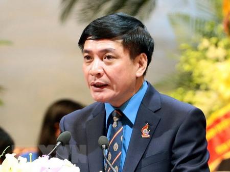 Ông Bùi Văn Cường, Ủy viên Trung ương Đảng, Chủ tịch Tổng Liên đoàn Lao động Việt Nam.