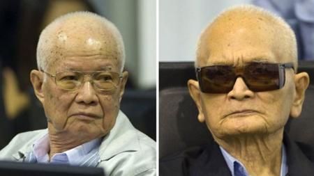 Các bị cáo Khieu Samphan và Nuon Chea.