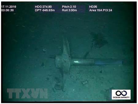 Mảnh vỡ tàu ngầm ARA San Juan ở độ sâu 800 mét, tại khu vực ngoài khơi Bán đảo Valdes của vùng Patagonia trên Đại Tây Dương, ngày 17/11/2018.